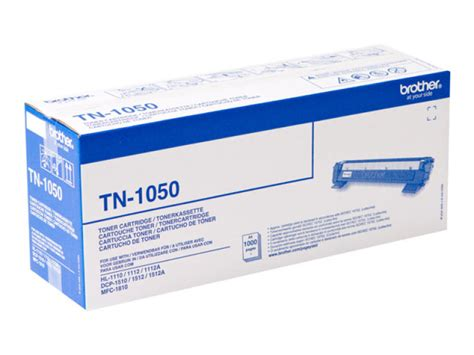 Toner Tn 1000 tn 1050 black toner cartridge 1 000 pages ebuyer