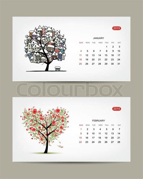 calendar greenvilleartscom vector calendar 2015 january and february months art