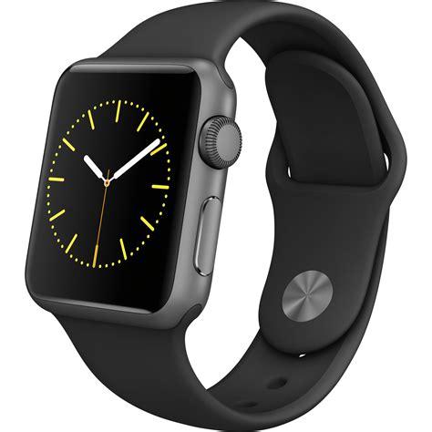 Smartwatch Apple Seri 3 Gps 38mm Space Grey Alum With Black Sport Band apple sport 38mm smartwatch mj2x2ll a b h photo
