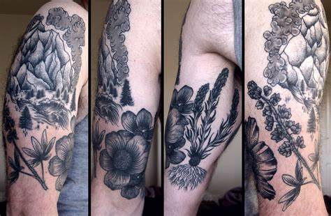 outdoor tattoo sleeves outdoor themed tattoos