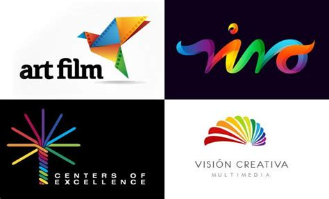 design inspiration by color 50 attractive multi color logo design exles for your