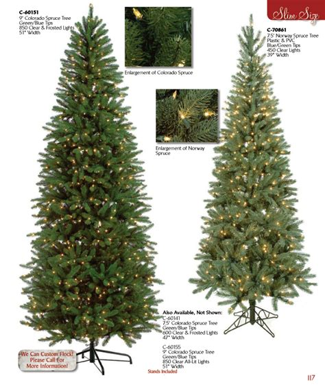 artificial slim christmas trees many light options available