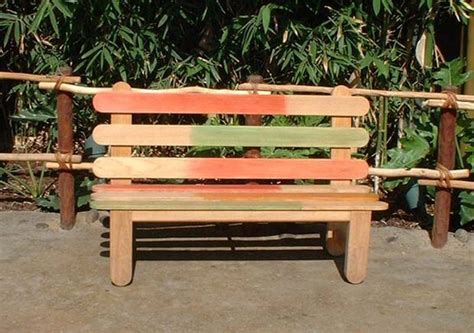 popsicle stick bench 60 garden bench ideas