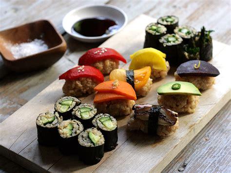 Sushi Kitchen Vegetarian Japanese Food Vegetable Sushi Recipe No Fish Sushi