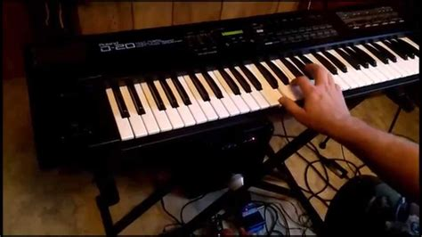 Keyboard Roland D20 roland d 20 keyboard synth with guitar pedals