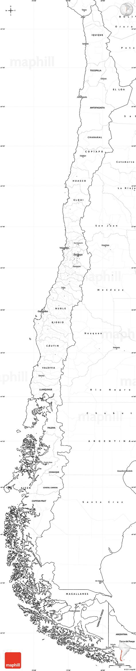 coloring page map of chile geography blog chile outline maps