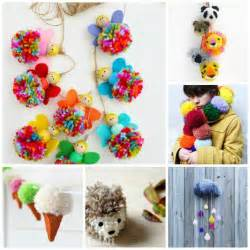 25 wonderful pom pom crafts and project ideas red ted art s blog