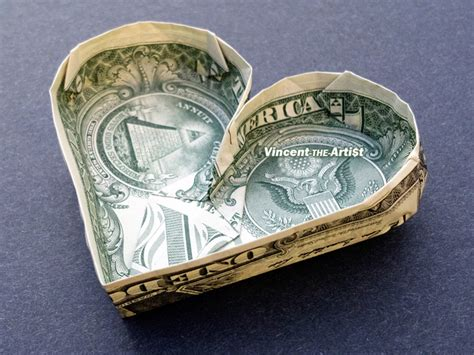 Shaped Dollar Bill Origami - shaped pool money origami vincent the artist