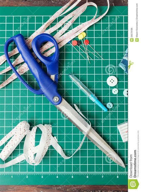 patchwork sewing tools stock photo image 56079196
