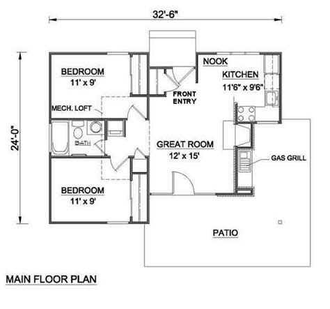 700 Square Foot House | 700 sq ft house plans 24 x 32 house designs