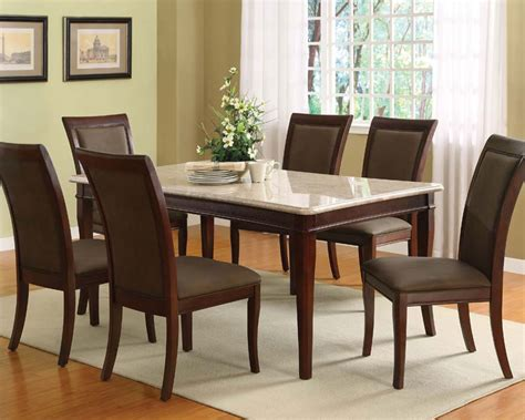 white marble top dining set acme dining set w white marble top britney ac70060a set