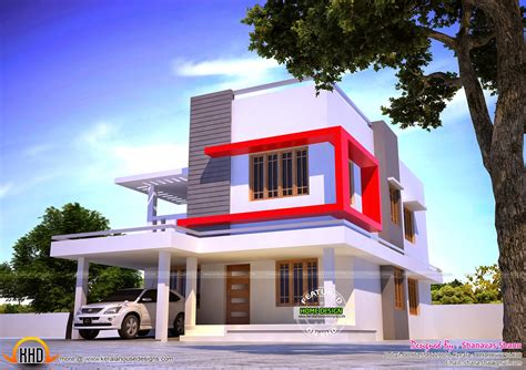 1607 sq ft luxury 3 bedroom contemporary villa home design april 2015 kerala home design and floor plans