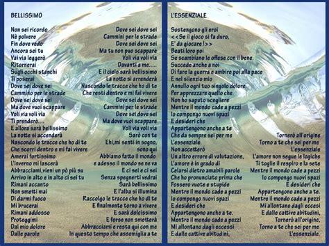 bellissimo marco mengoni testo marco mengoni i testi delle tre canzoni sanremesi