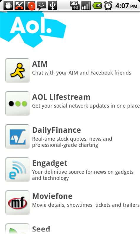 aol app for android aol releases pair of android apps android central
