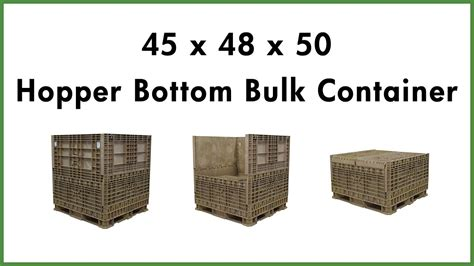 layout and design considerations for a wholesale container nursery 45 x 48 x 50 hopper bottom bulk container youtube
