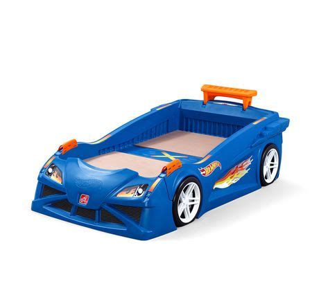 walmart race car bed step2 hot wheels toddler to twin race car bed walmart canada