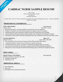Resume Format For Nurses by Cardiac Resume Sle Resumecompanion Resume Sles Across All Industries
