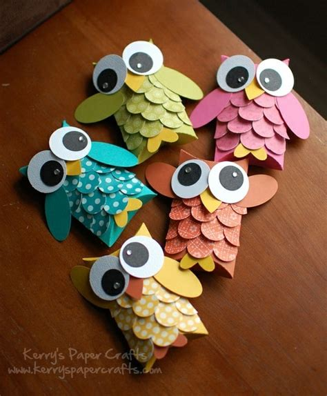 Paper Craft Ideas - adorable owls from kerry s paper crafts creative craft
