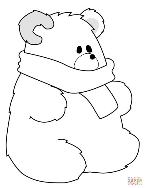 simple bear coloring pages simple bear coloring page free download