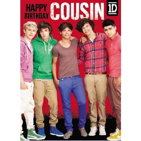 One Direction Birthday Cards New One Direction Cousin Birthday Card Greetings Cards