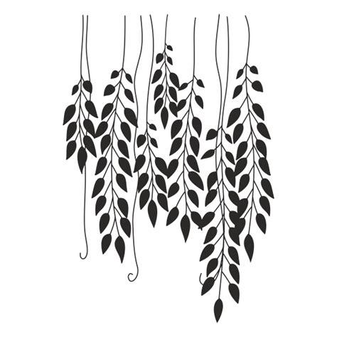 imagenes de hojas a blanco y negro vinilo decorativo hojas colgantes