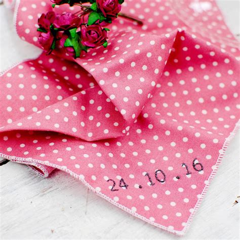 Handmade Handkerchief - handmade personalised handkerchief polka dot by