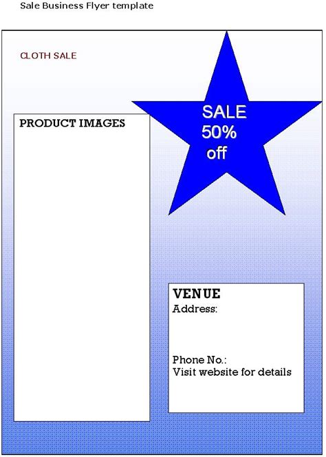 sale business flyer template sample business templates