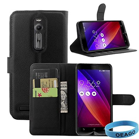 Lcd Ts Zenfone 2 55 Ze550ml Black asus zenfone 2 cover accessories magnetic litchi grain pu leather wallet stand