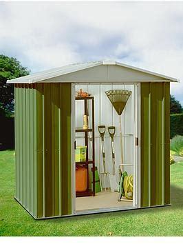 Yardmaster Apex Roof Metal Shed - yardmaster 6 1 x 4 1 ft apex roof metal garden shed