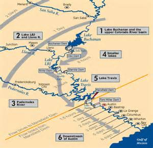 colorado river dams map how the highland lakes system works