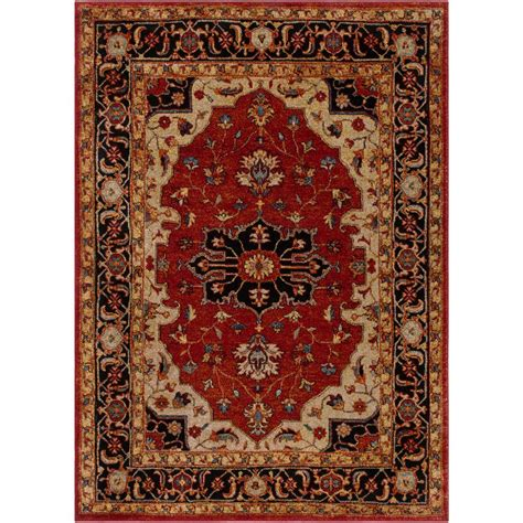3 foot area rugs surya serapi 2 ft x 3 ft indoor area rug srp1002 23 the home depot