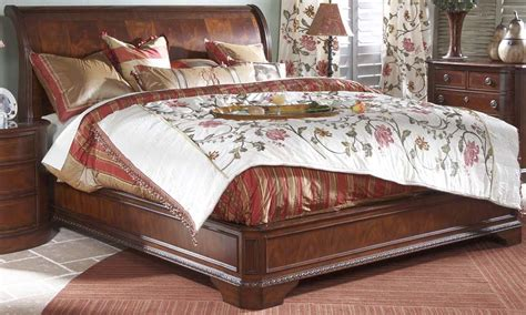 sleigh bed king size heritage mahogany traditional king size sleigh bed ebay
