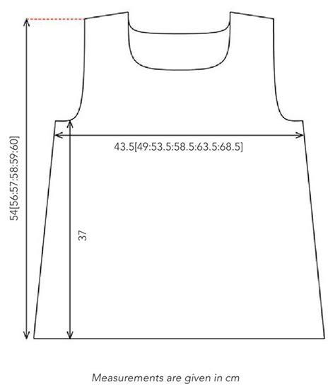 shirt pattern diagram summer vest top knitting pattern
