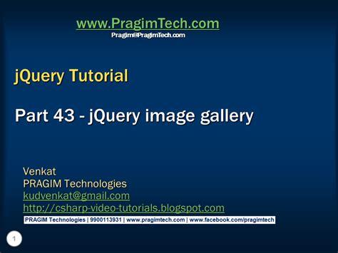 Tutorial Jquery Image Gallery | sql server net and c video tutorial jquery image gallery