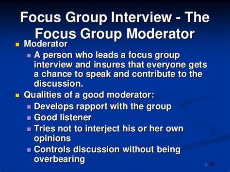 Mba Research Focus Groups by Mba2216 Business Research Week 4 Study 0613