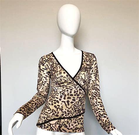 vintage st john  marie gray  leopard print faux