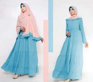 Syarii Batik Biru baju gamis syari set bergo miss karaya koleksi baju
