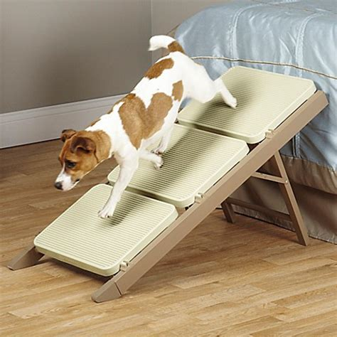 dog bed with stairs pet studio 3 step metro r step in brown bed bath beyond