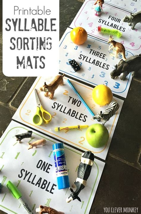 printable syllable games pinterest the world s catalog of ideas