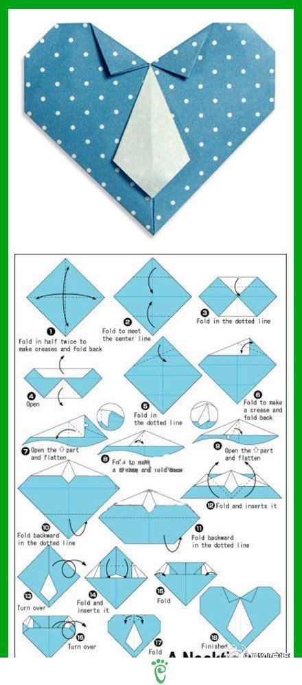 tutorial origami corazon tarjeta para d 237 a del padre coraz 243 n de origami con forma