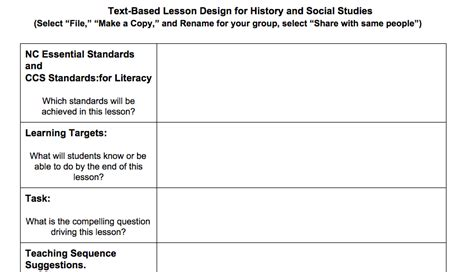 lesson plan template for social studies choice image
