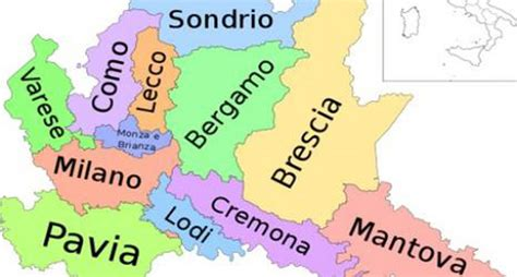 provinciale lombarda lombardia cartina geografica province