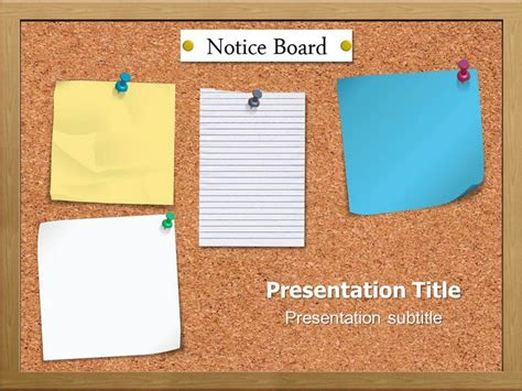 board powerpoint template notice board powerpoint templates and backgrounds