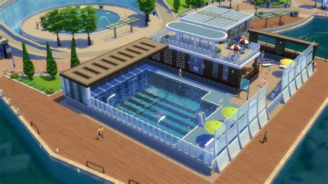 Backyard Pool With Lazy River The Sims 4 Get Together Simcitizens