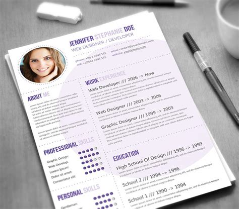 stunning graphic design resume template 21 stunning creative resume templates