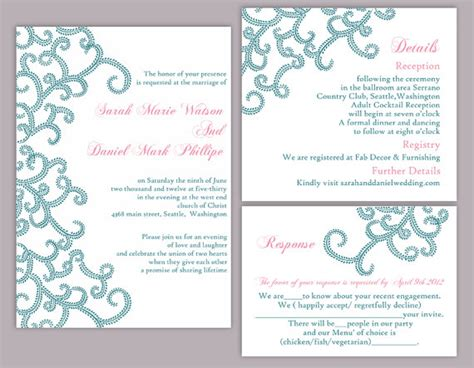 free editable wedding invitation templates diy wedding invitation template set editable