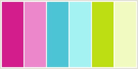 color combinations with pink colorcombo232 with hex colors d31d8c ee88cd 4dc5d6