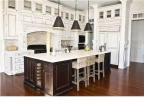 Different Colored Kitchen Cabinets Dark Island And White Kitchen Cabinets Dream Kitchen