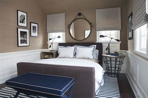 navy blue room accents interiors b a s blog navy x bench cottage bedroom sb long interiors