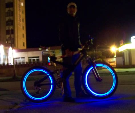lights on wheels of a bicycle led bicycle wheels 7 steps
